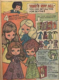 newspaper article from 80s blythe doll history