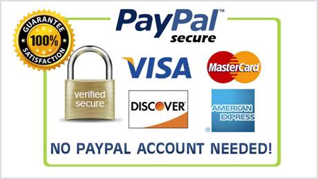 методе плаћања су доступне главним кредитним картицама паипал