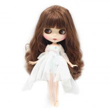 Factory Neo Blythe Doll Long Black Hair Jointed Body Free Gifts 30 cm