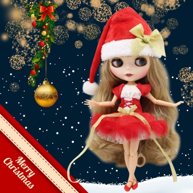 Christmas Neo Blythe Doll Blonde Hair 10 Jointed Body Combo Options Bestseller Blythes Blonde Hair Blythe