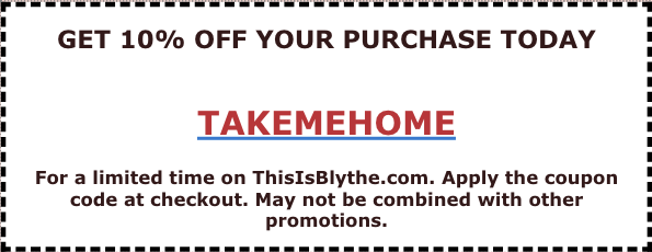 بللي ڪوپن https://www.thisisblythe.com/coupons/