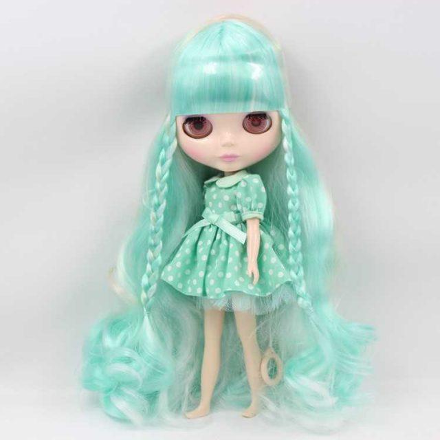 ICY Neo Blythe Doll Mint Hair Regular Body
