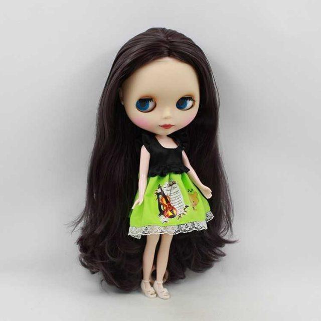 ICY Neo Blythe Doll Qara Saçların Daimi Bədəni