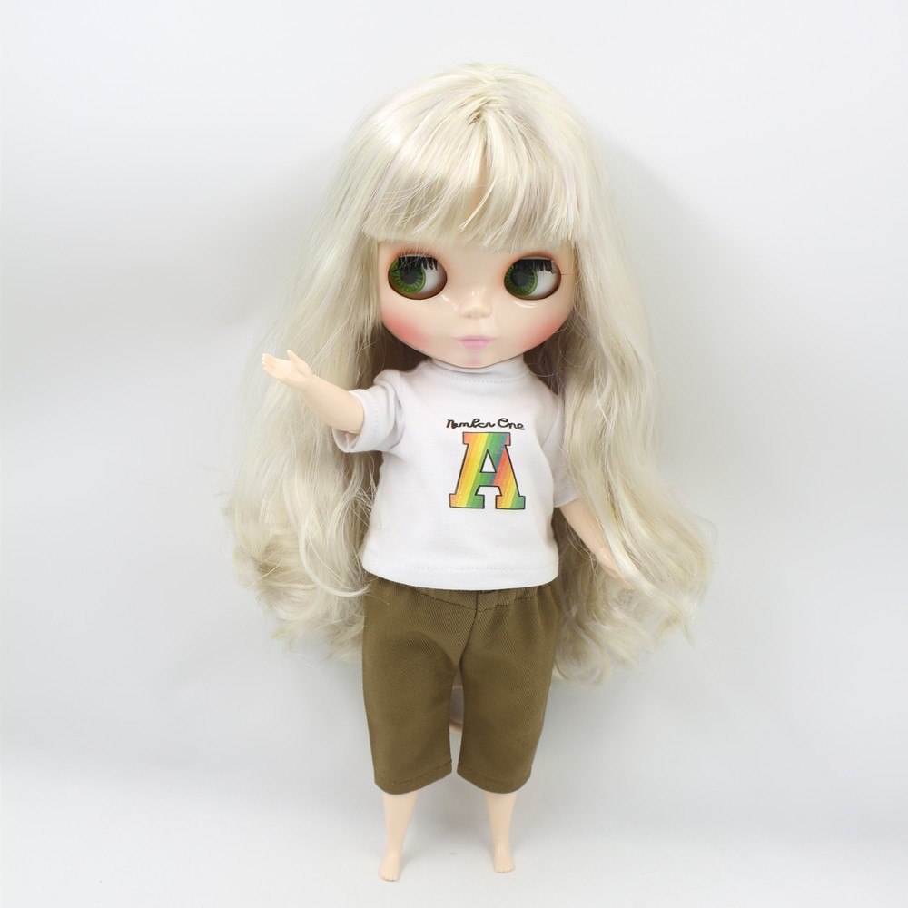ICY Neo Blythe Doll Golden Hair Plump Body Yellow Hair Blythe