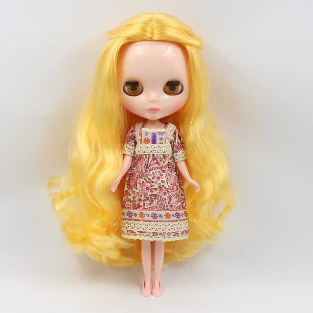 ICY Neo Blythe Doll Yellow Curly Hair Regular Body