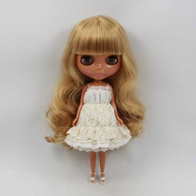 ICY Neo Blythe Doll Dark Skin Brown Hair Regular Body