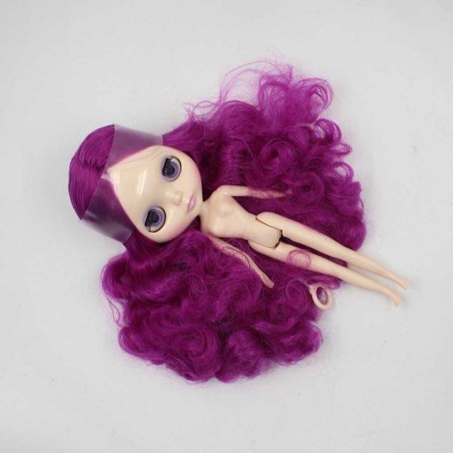 ICY Neo Blythe Doll Purple Center Part Hair Regular Body 28cm