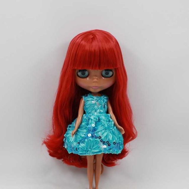 ICY Neo Blythe lutka crvene kose crne kože redovito tijelo