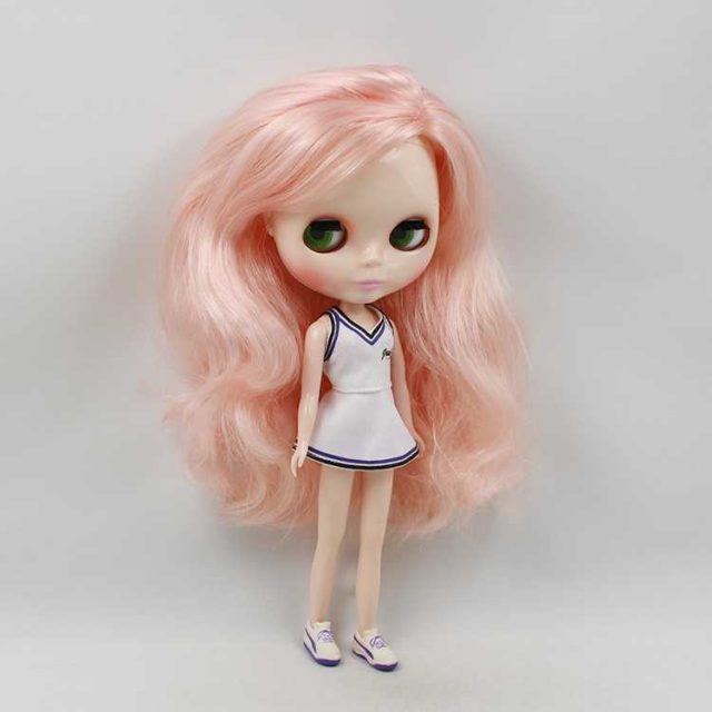 ICY Neo Blythe Doll Champagne Pink Hair Regular Body