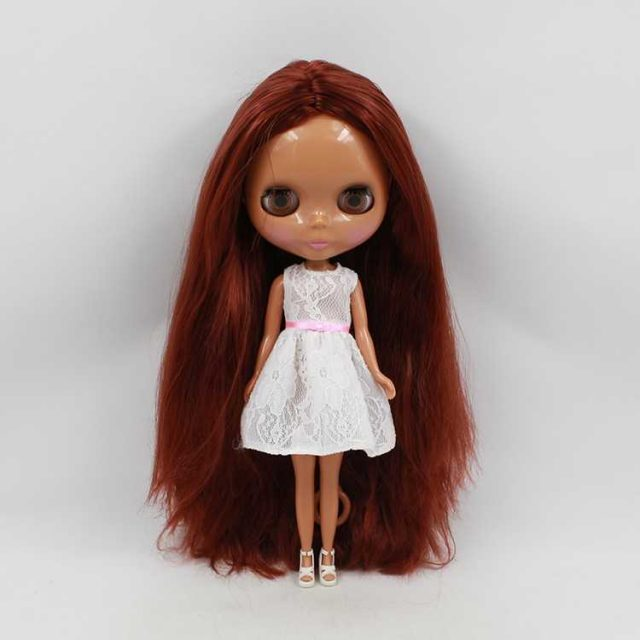 ICY Neo Blythe Doll Brown Hair Dark Skin Regular Body 30cm