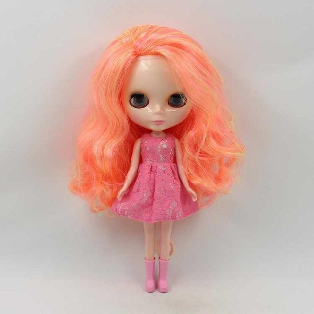 ICY Neo Blythe Doll Yellow Pink Orange Side Part Hair Regular Body