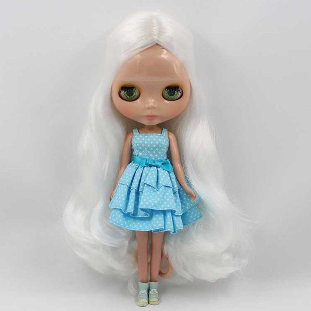 ICY Neo Blythe בובת עור כהה שיער רגיל גוף לבן