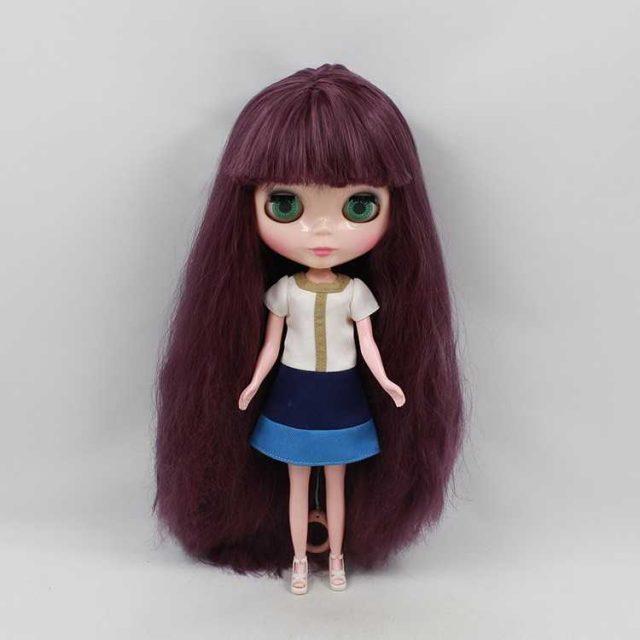 ICY Neo Blythe Doll Dark Purple Hair Regular Body