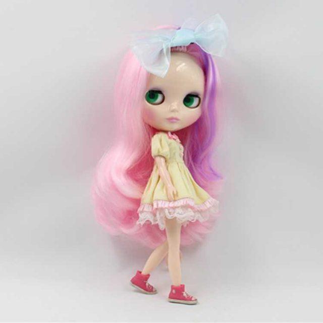 ICY Neo Blythe Doll Purple Pink Bvudzi Rakajaidzirwa Muviri