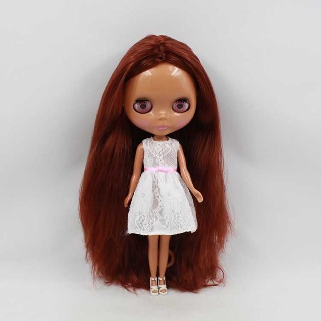 ICY Neo Blythe Doll Brown Hair Dark Skin Regular Body