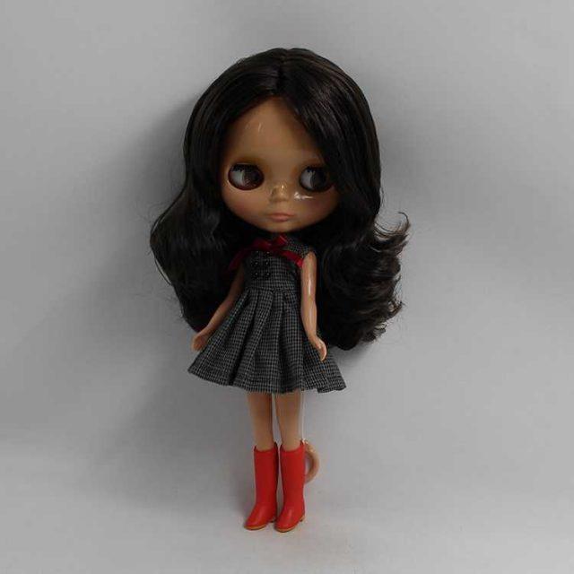 TBL Neo Blythe Doll Black Hair Dark Skin Regular Body