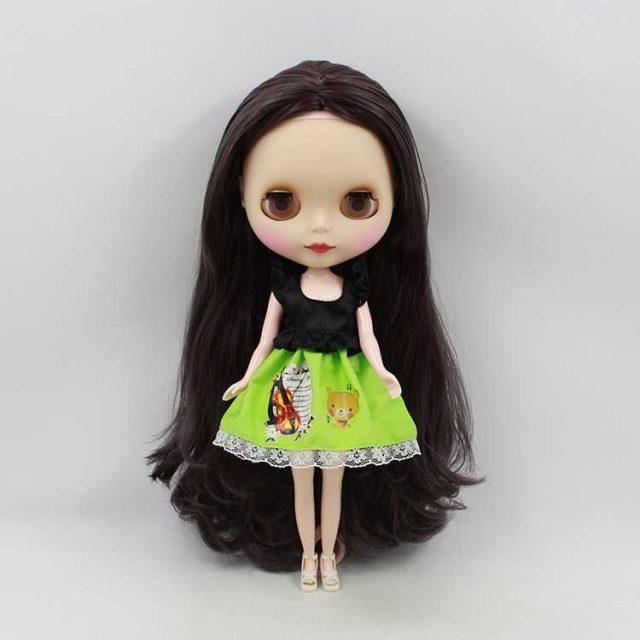 ICY Neo Blythe عروسک سیاه مو منظم بدن 30cm