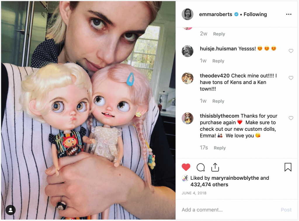 Emma Roberts and her Blythe Dolls 1