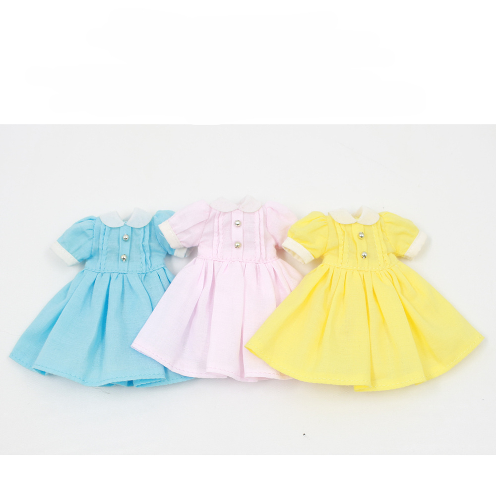 Middie Blythe Doll Pink Blue Yellow Dress Outfit Middie Blythe Clothes