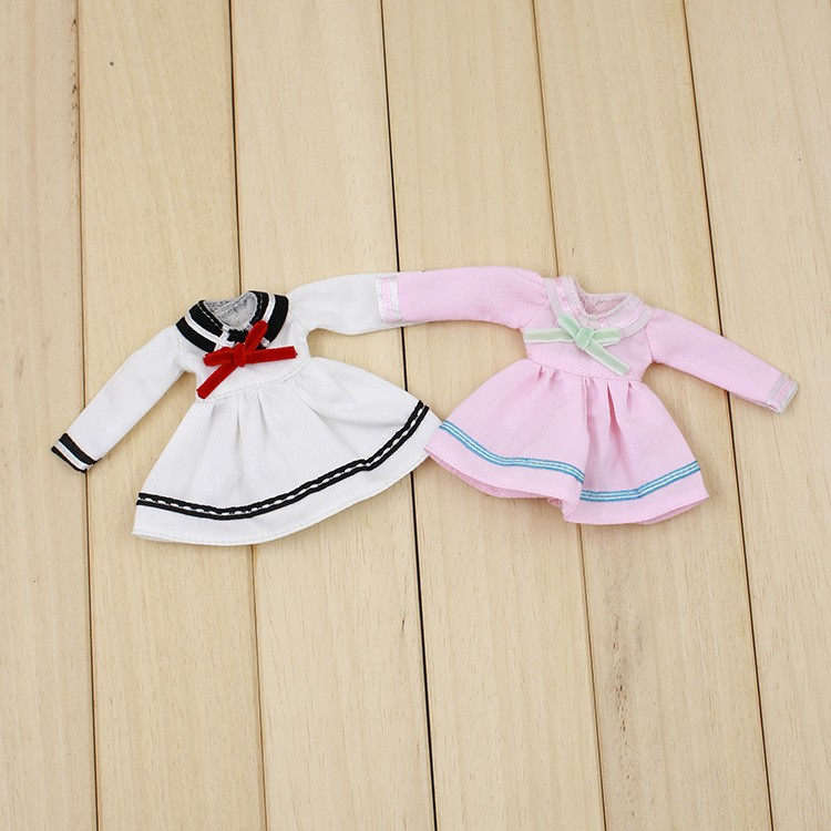 Middie Blythe Doll Student Uniform With Bow Middie Blythe Clothes