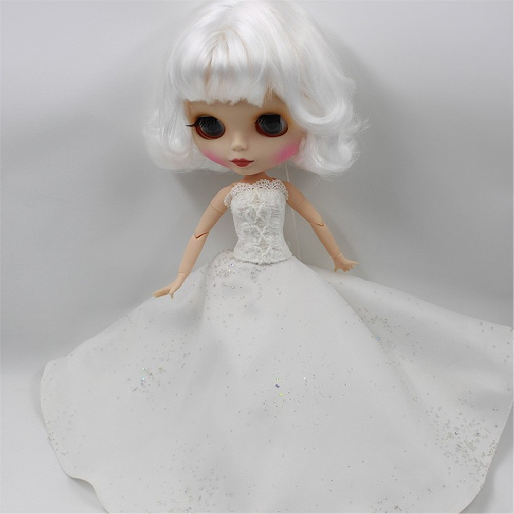 Neo Blythe Doll White Wedding Dress Neo Blythe Clothes