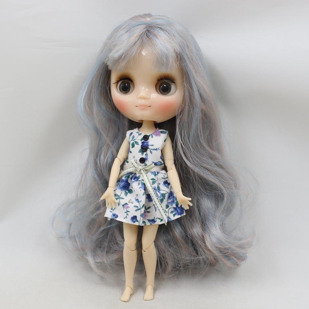 Middie Blythe Doll Blue White Dress Middie Blythe Clothes