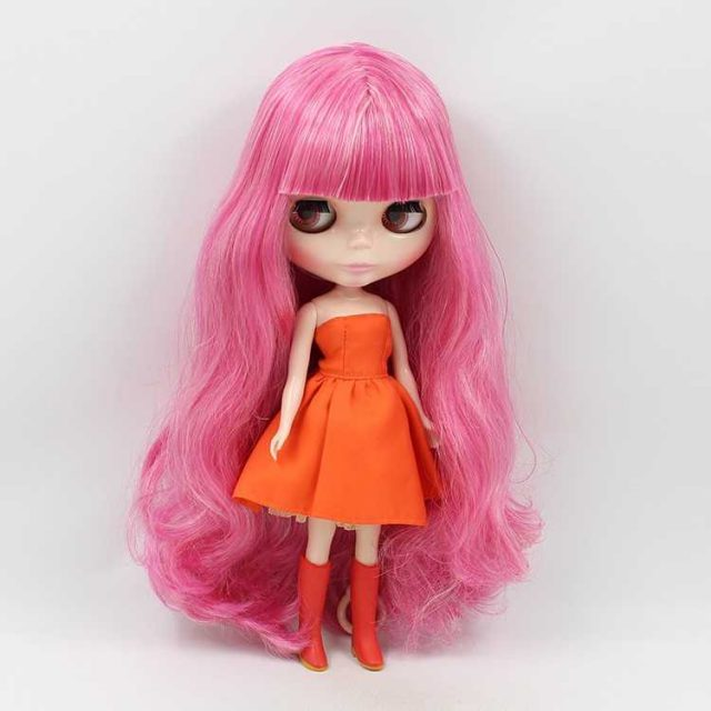 ICY Neo Blythe Doll Body Blanc Cheveux Rose