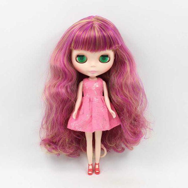 ICY Neo Blythe Doll мавҷи рангоранги мӯи бадан мунтазам