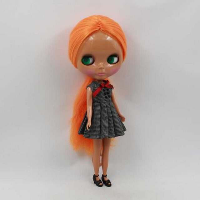 TBL Neo Blythe Doll Orange Hair Dark Skin Regular Body