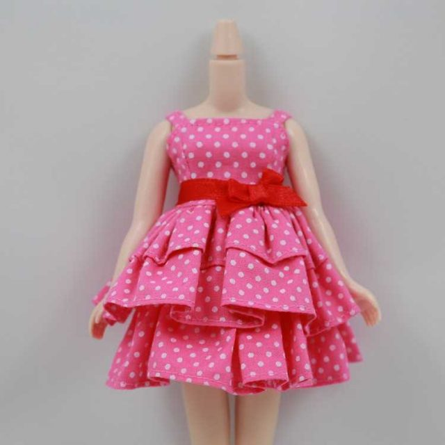 Neo Blythe Doll Christmas Dress With Bow
