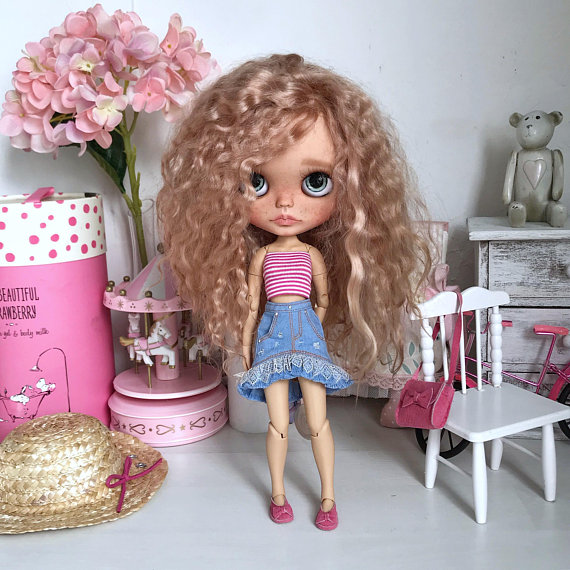 Jacqueline - Custom Blythe Doll One-Of-A-Kind OOAK Sold-out Custom Blythes