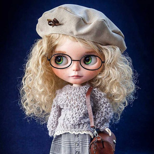Skylar - Custom Blythe Doll One-Of-A-Kind OOAK-Ebu-ozuzu Azụ Brunthes