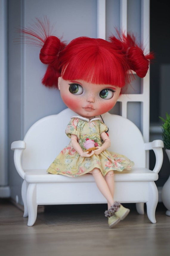 Fire - Custom Blythe Doll One-Of-A-Kind OOAK Sold-out Custom Blythes