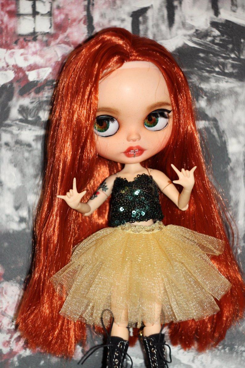 Leslie - Custom Blythe Doll One-Of-A-Kind OOAK Sold-out Custom Blythes