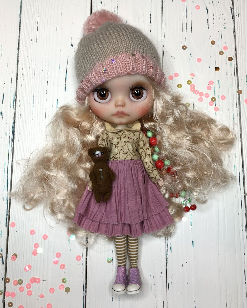 Leyla - Custom Blythe Doll One-Of-A-Kind OOAK Sold-out Custom Blythes