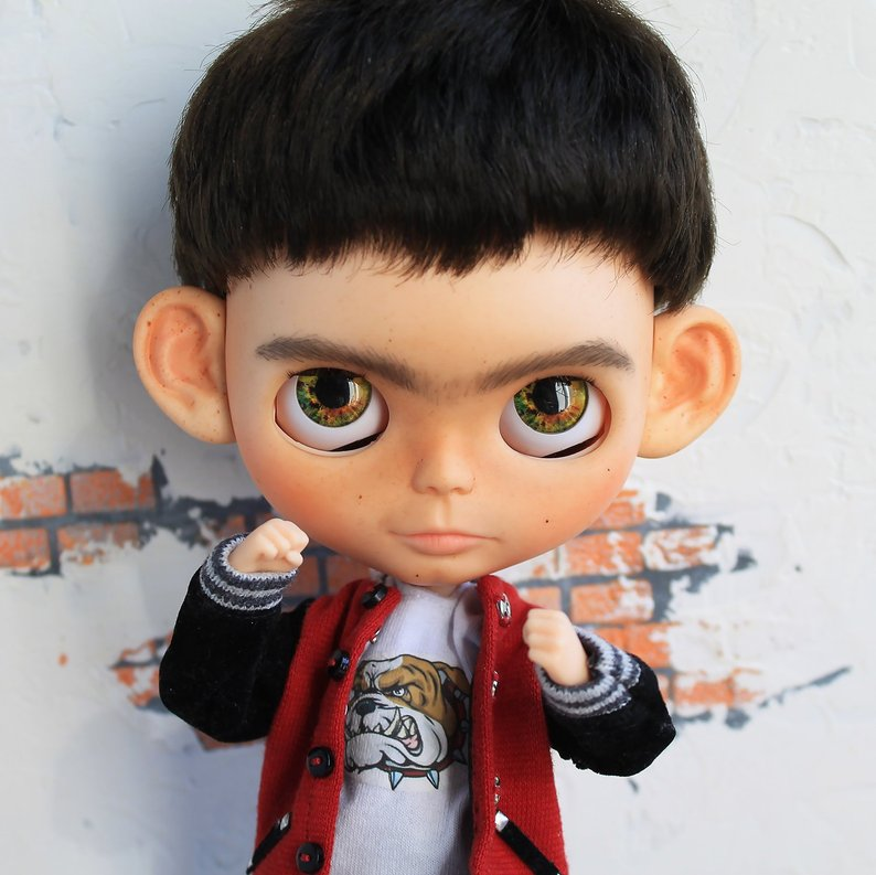Andy - Custom Blythe Doll One-Of-A-Kind OOAK Sold-out Custom Blythes