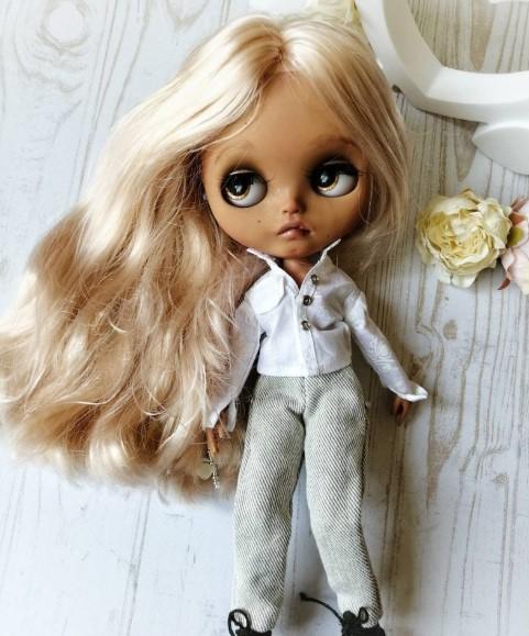 Ангел - изготовленная на заказ кукла Blythe, единственная в своем роде OOAK