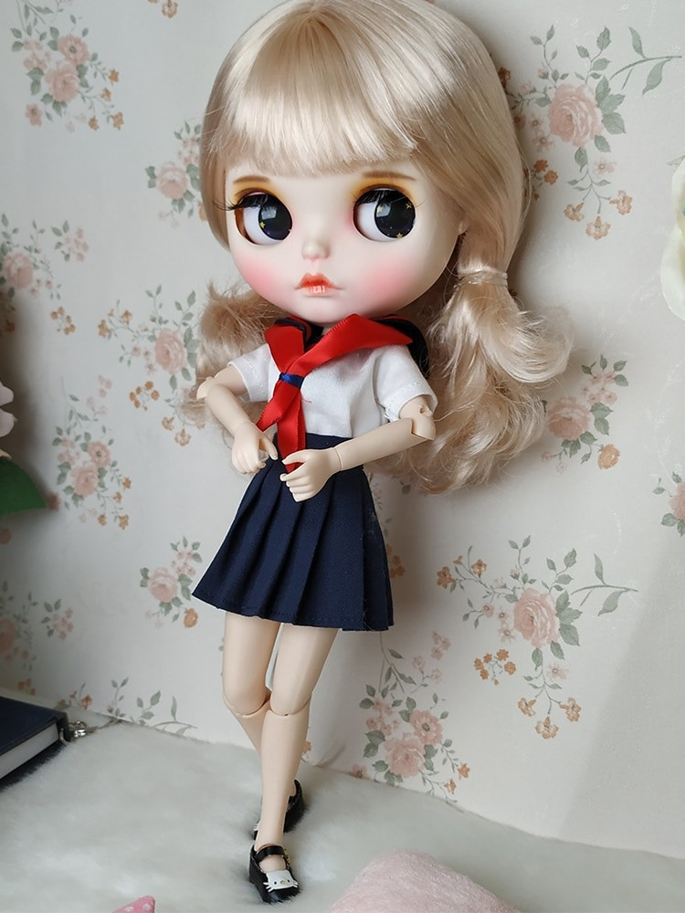 Rosie - Premium Custom Blythe Doll with Clothes Thinking Face Premium Blythe Dolls 🆕