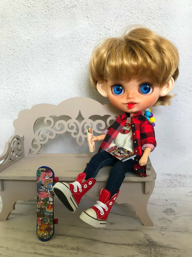 Kevin - Custom Blythe Doll One-Of-A-Kind OOAK Sold-out Custom Blythes