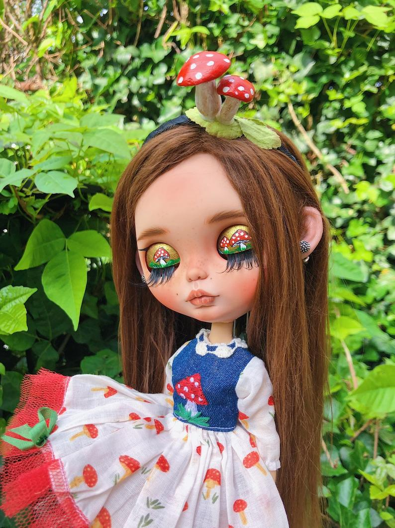 Mushroom - Custom Blythe Doll One-Of-A-Kind OOAK Sold-out Custom Blythes