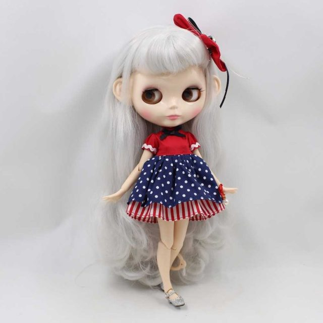 Bernie – Premium Custom Blythe Doll with Full Outfit Glossy Cute Face