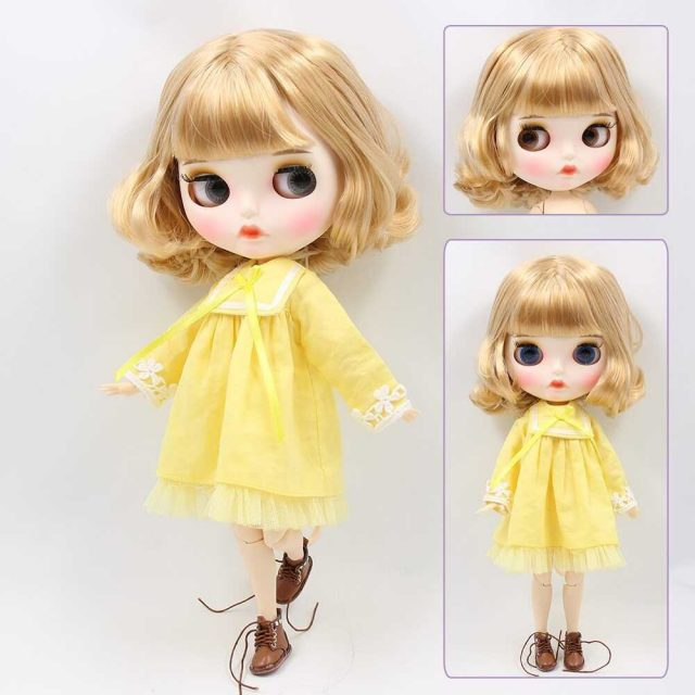 Natasha – Premium Custom Blythe Doll with Full Outfit Pouty Face