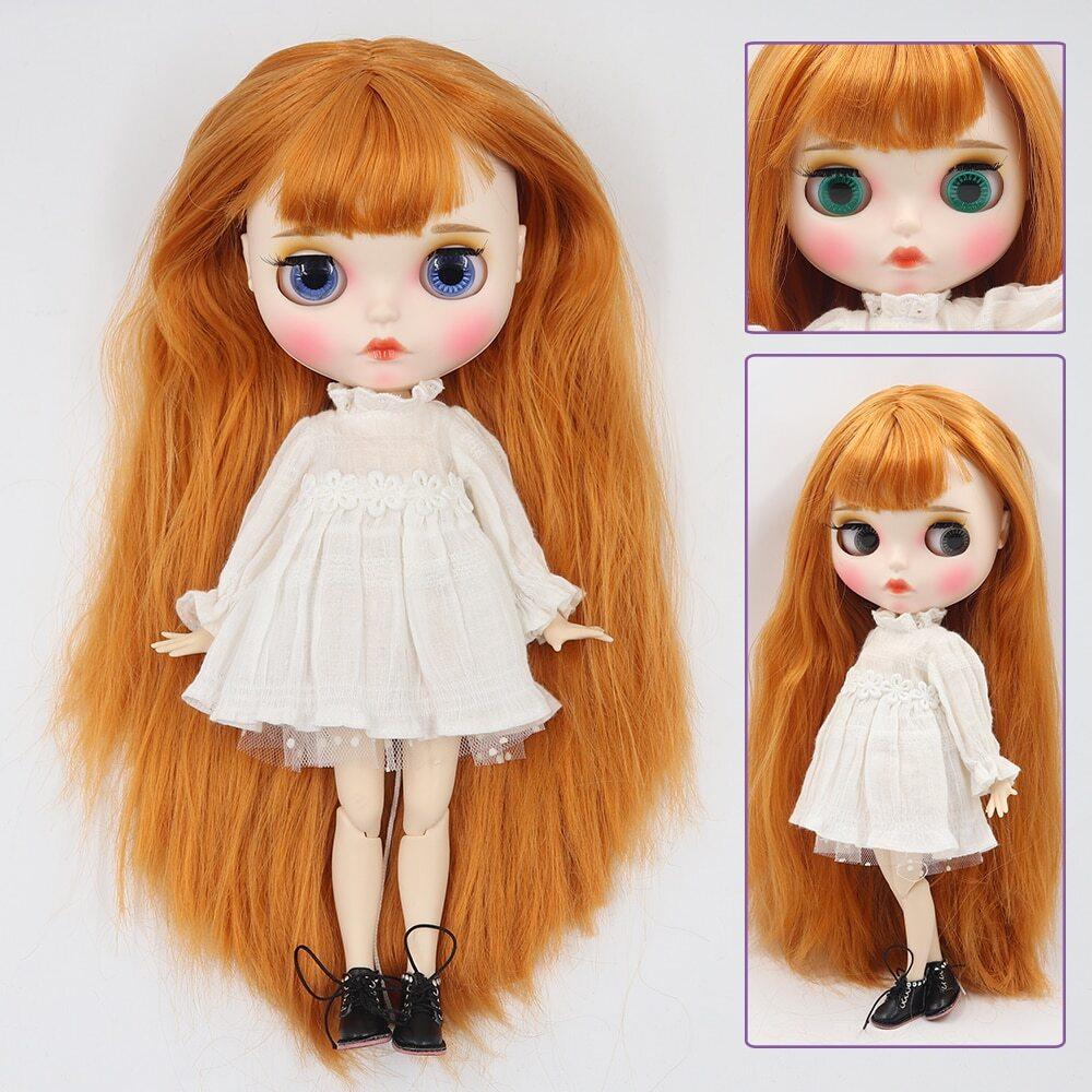 Maria – Premium Custom Blythe Doll with Clothes Pouty Face Blythe Doll Combos Pouty Face Premium Blythe Dolls 🆕