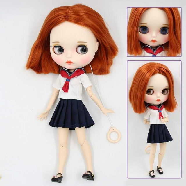 Albertina – Premium Custom Blythe Doll with Full Outfit Pouty Face