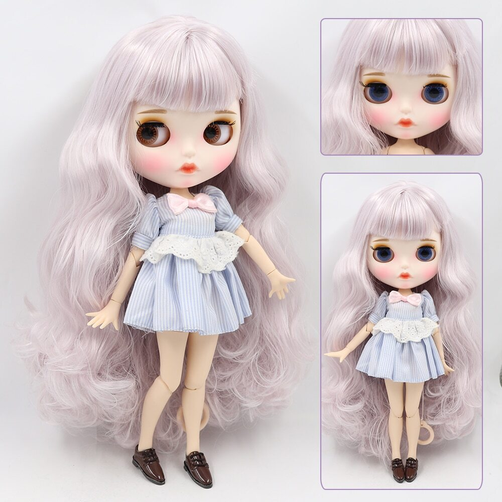 Blanch – Premium Custom Blythe Doll with Full Outfit Pouty Face Pouty Face Premium Blythe Dolls 🆕