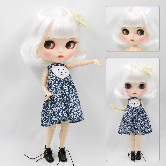 Anna – Premium Custom Blythe Doll with Full Outfit Pouty Face