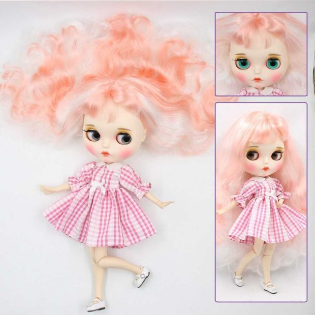Betty – Premium Custom Blythe Doll with Full Outfit Pouty Face