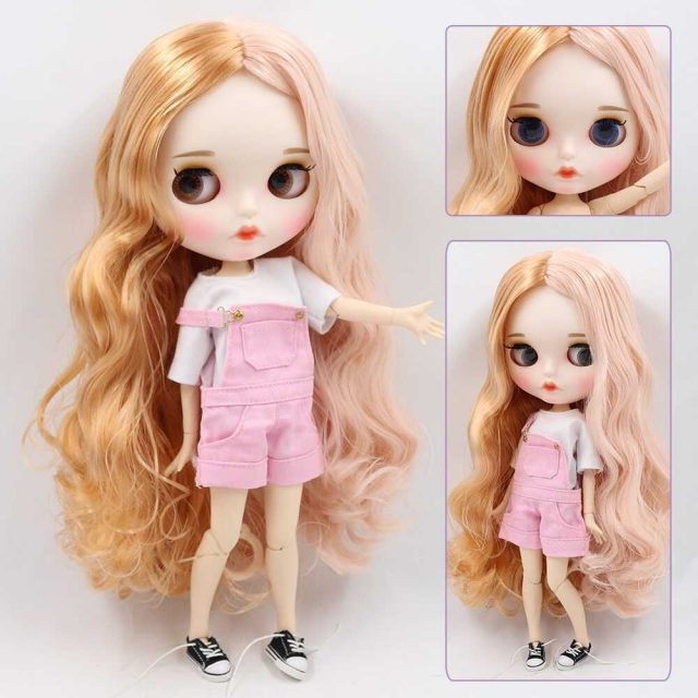 Selena – Premium Custom Blythe Doll with Full Outfit Pouty Face