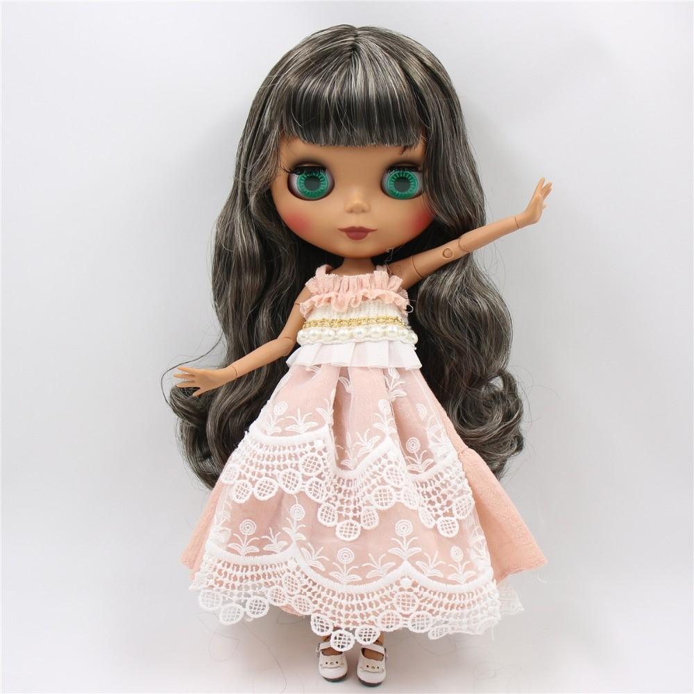 Muriel – Premium Custom Blythe Doll with Clothes Cute Face Black Hair Blythe