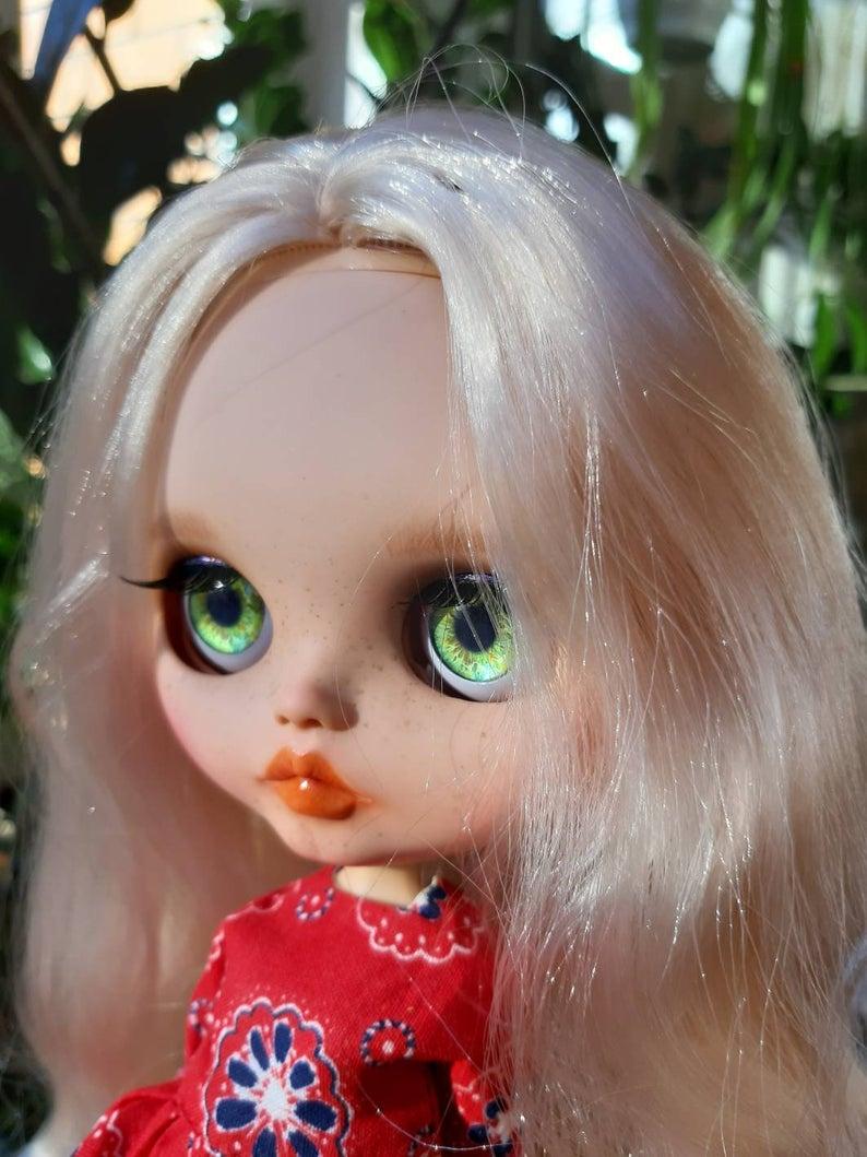 Netta - Custom Blythe Doll One-Of-A-Kind OOAK Sold-out Custom Blythes
